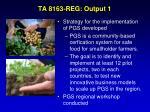 ta 8163 reg output 1