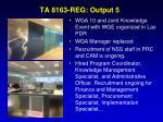 ta 8163 reg output 5