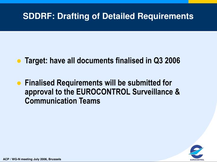 SDDRF: Drafting of Detailed Requirements