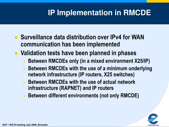 IP Implementation in RMCDE