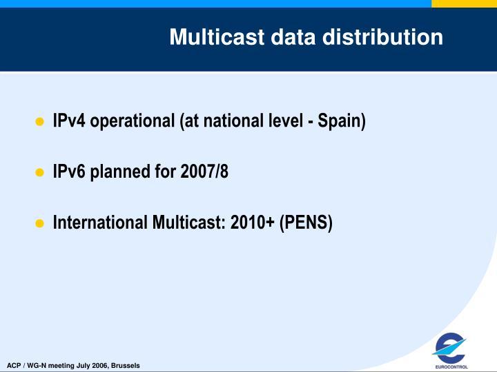 Multicast data distribution