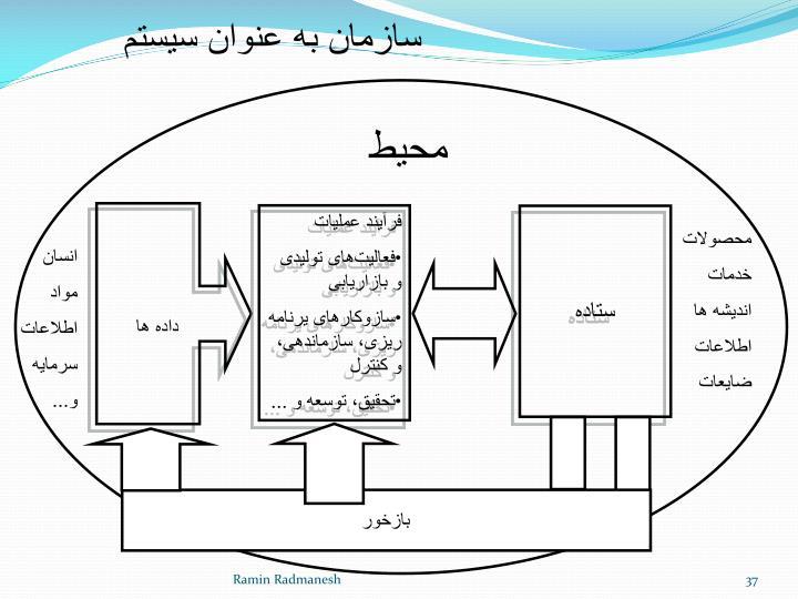 سازمان به عنوان سیستم