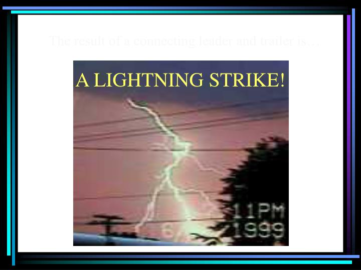 A LIGHTNING STRIKE!