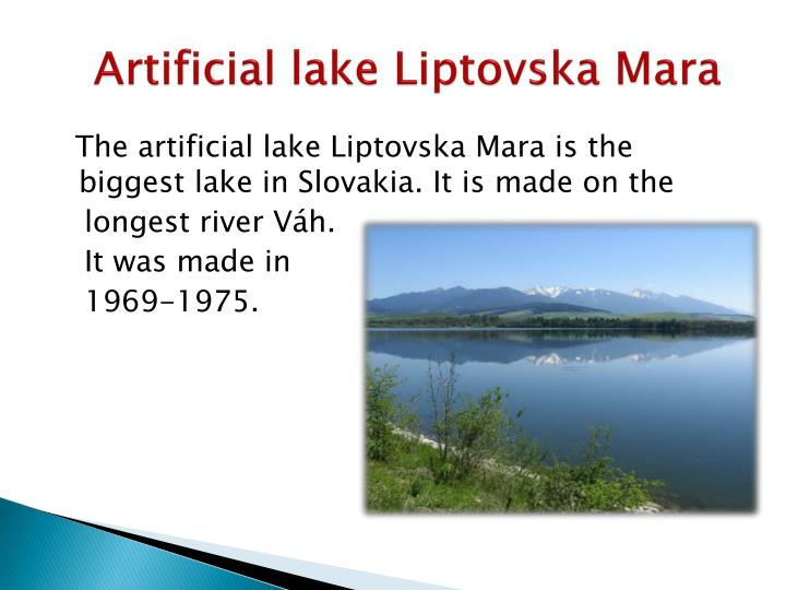 Artificial lake Liptovska Mara