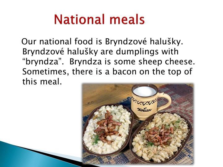 National meals