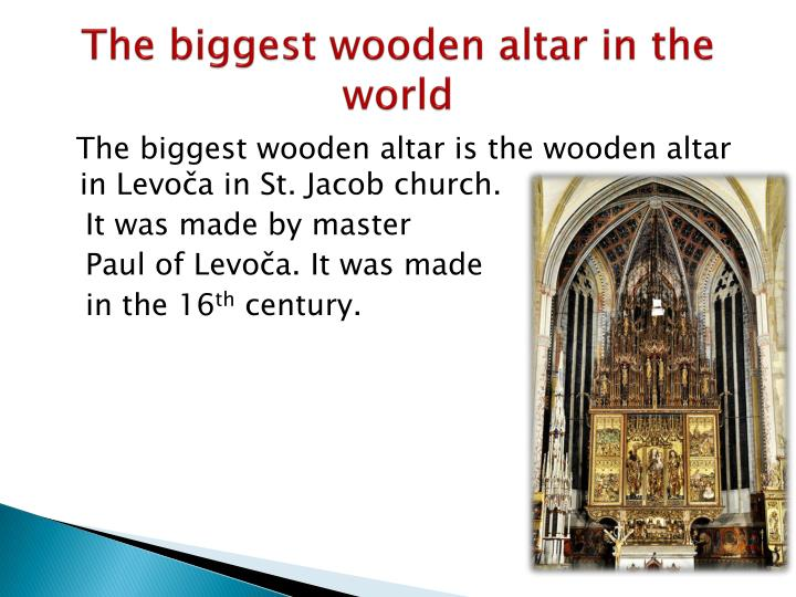 The biggest wooden altar in the    world