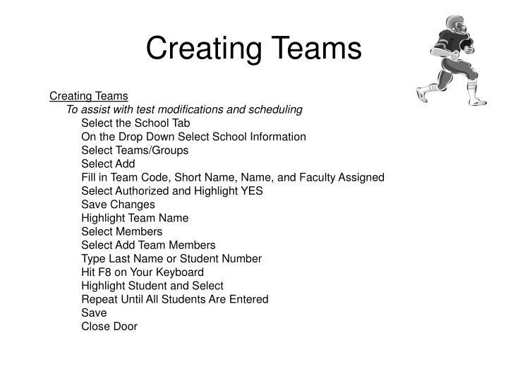 Creating Teams