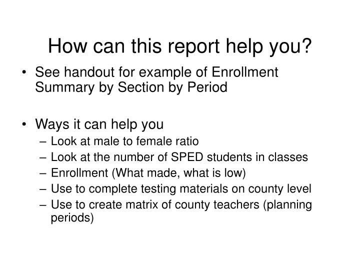 How can this report help you?