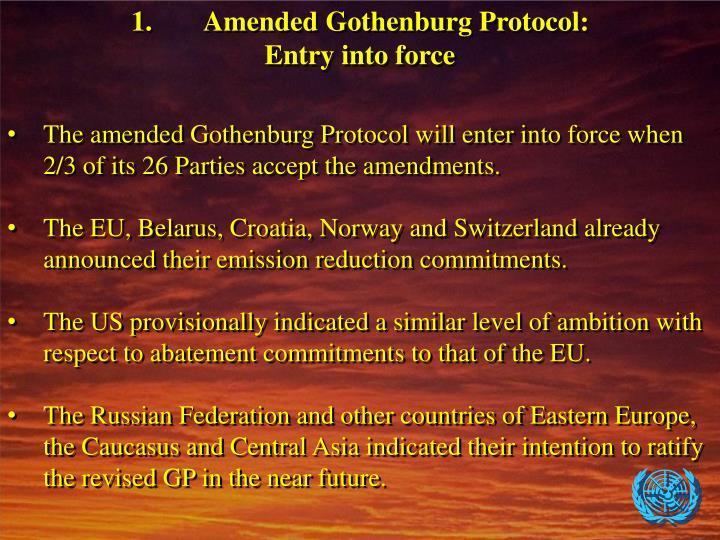 1.Amended Gothenburg Protocol: