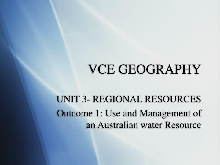 Vce geography