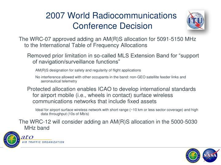 2007 World Radiocommunications
