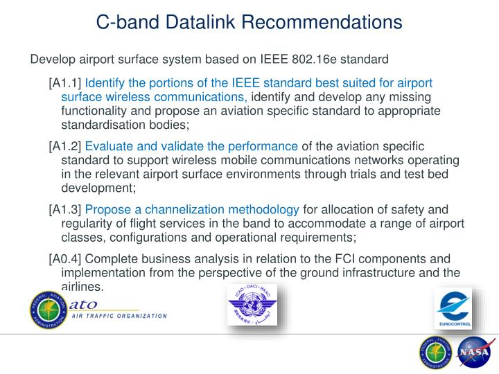 C-band Datalink Recommendations