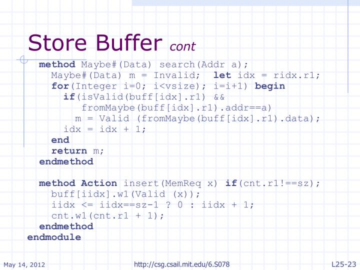 Store Buffer
