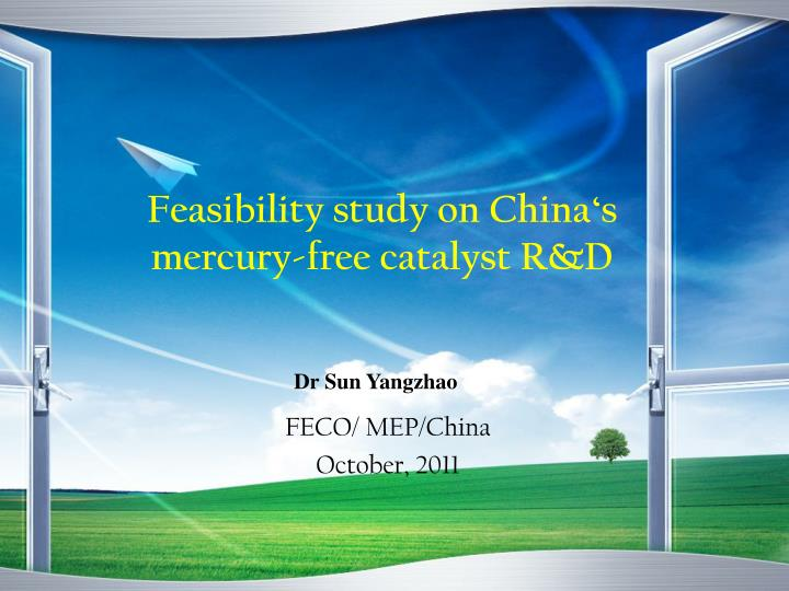 feasibility study on china s mercury free catalyst r d