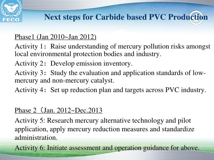 Next steps for Carbide based PVC Production