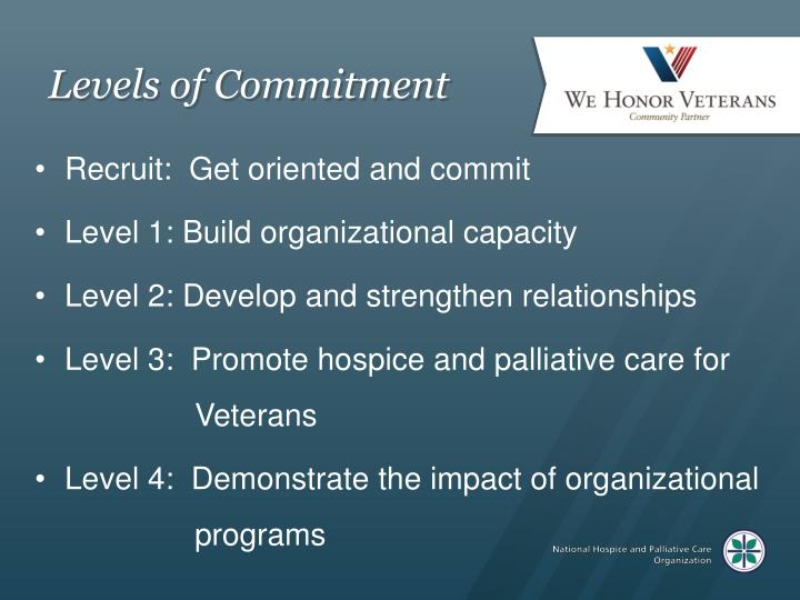 Levels of Commitment