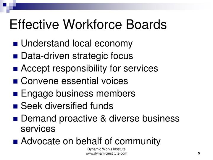 Effective Workforce Boards