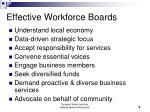 effective workforce boards