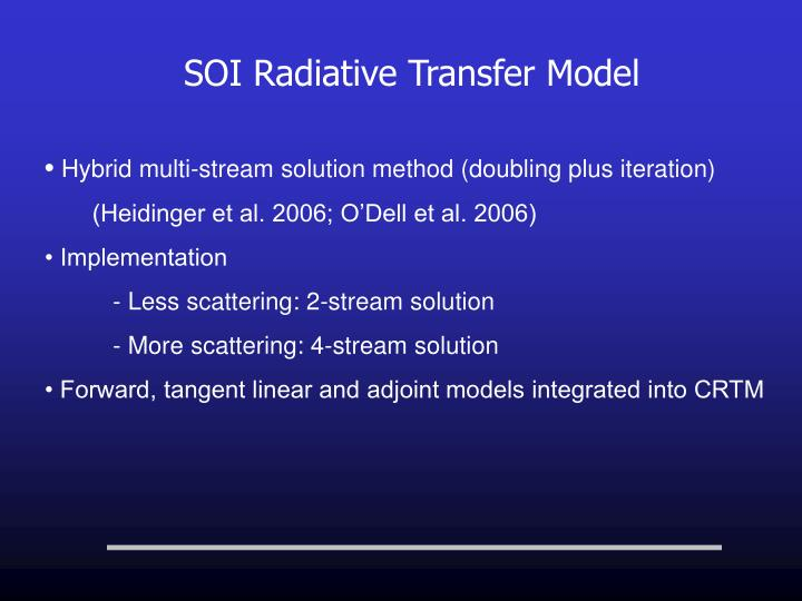 SOI Radiative Transfer Model
