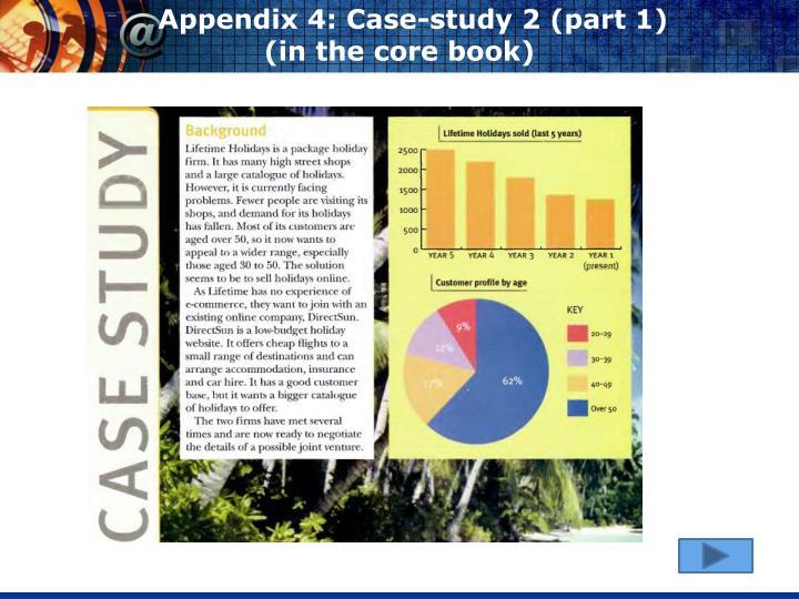 Appendix 4: Case-study 2 (part 1)