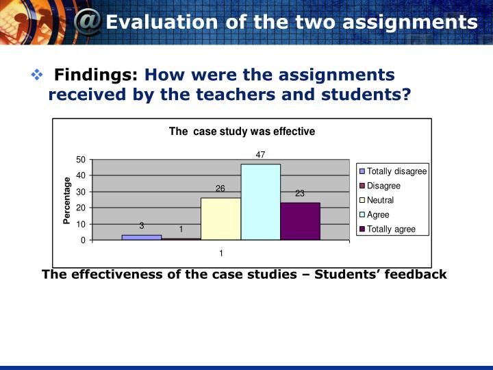 Evaluation of the two assignments