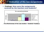 evaluation of the two assignments1