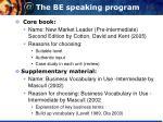 the be speaking program1
