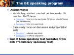 the be speaking program2