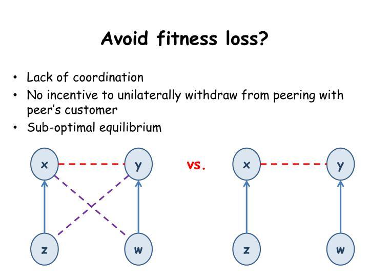 Avoid fitness loss?