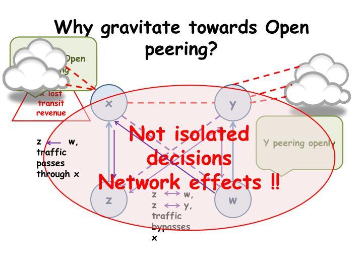 Why gravitate towards Open peering?