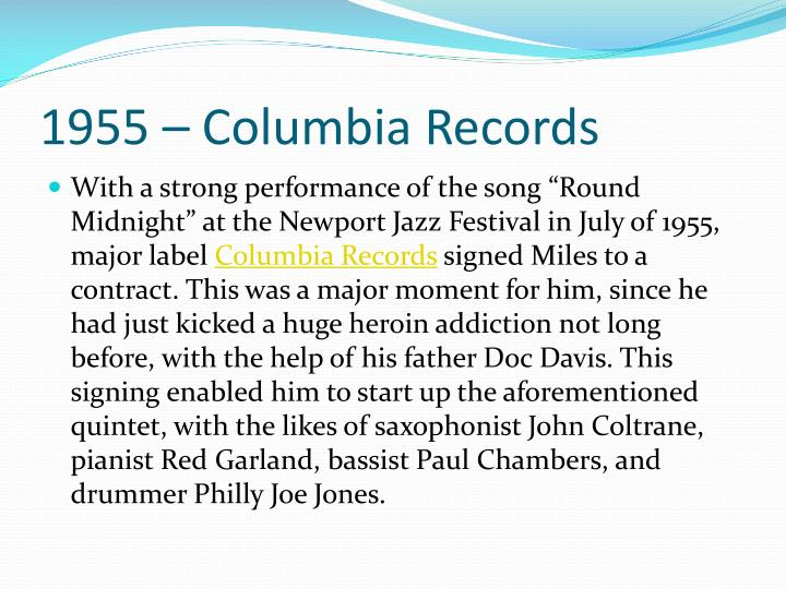 1955 – Columbia Records