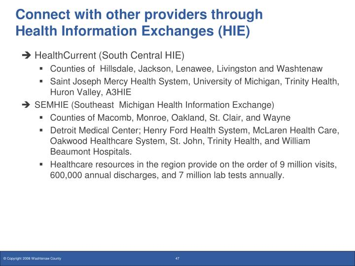 Connect with other providers through