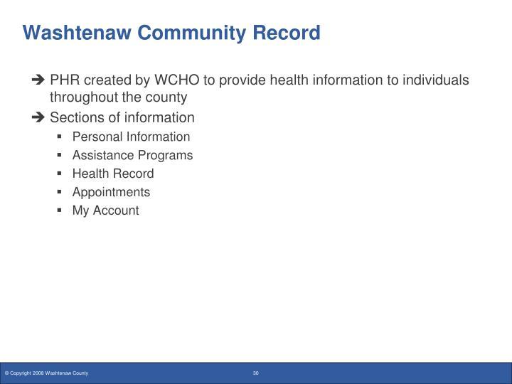 Washtenaw Community Record