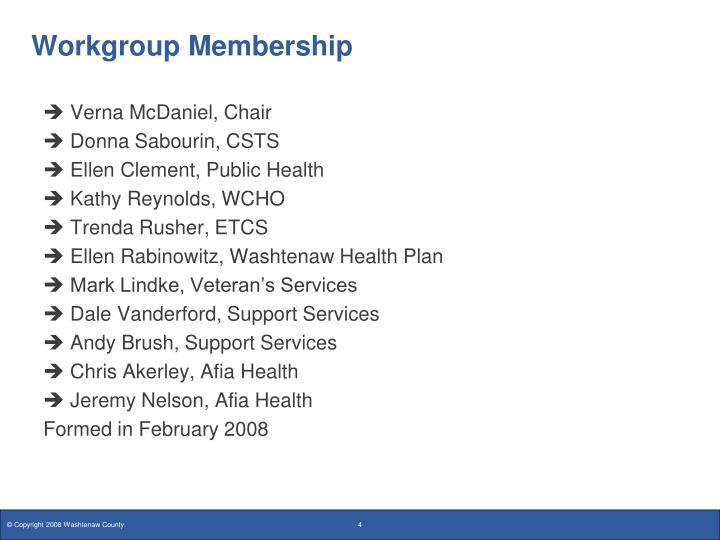 Workgroup Membership