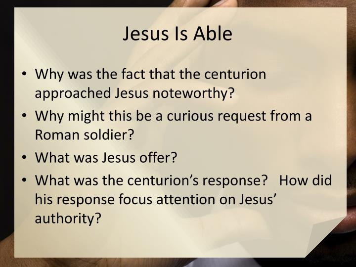 Jesus Is Able