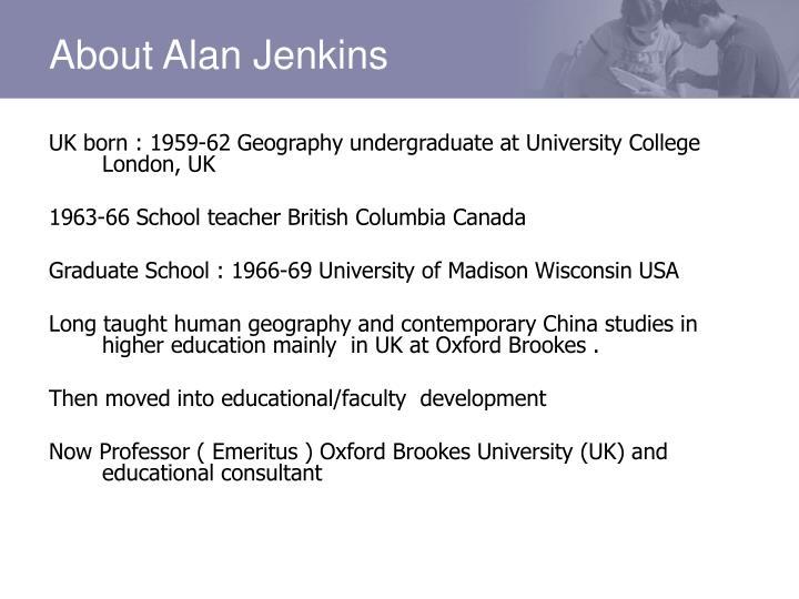 About Alan Jenkins