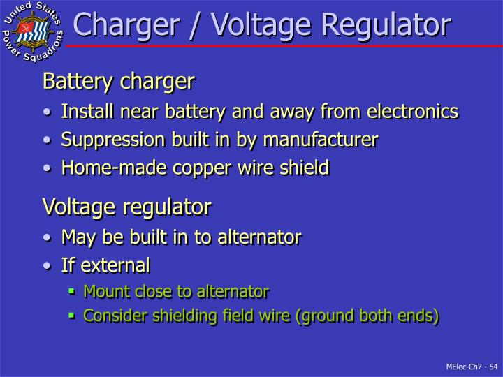 Charger / Voltage Regulator