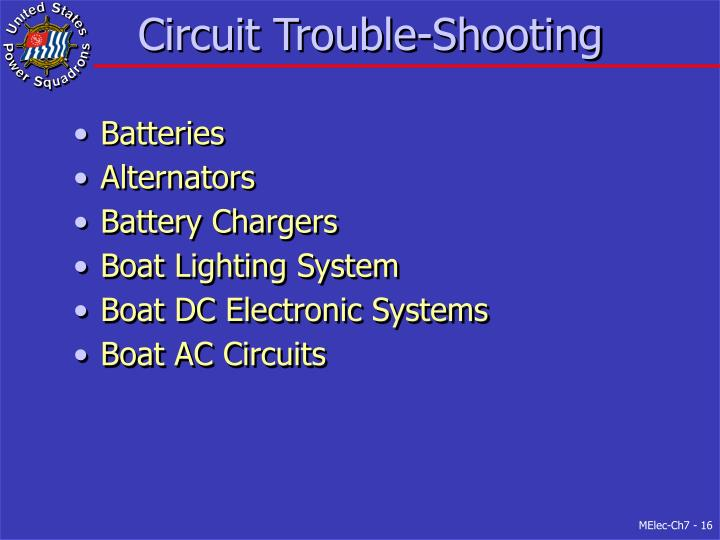 Circuit Trouble-Shooting