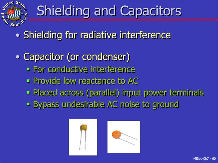 Shielding and Capacitors