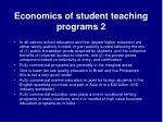 economics of student teaching programs 2