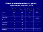 global knowledge economy power asia pacific nations 2007