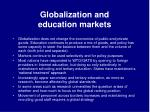 globalization and education markets