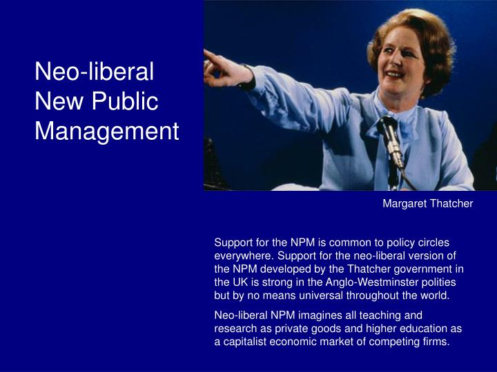 Neo-liberal New Public Management