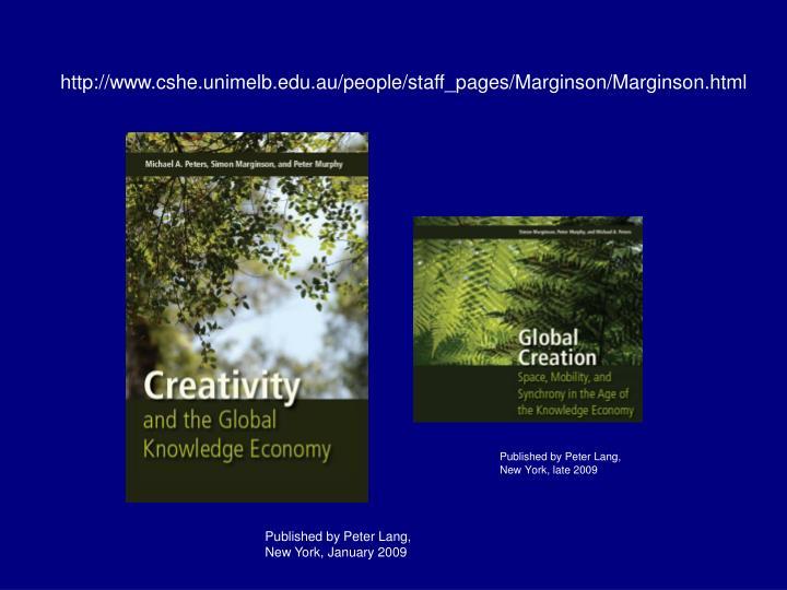 http://www.cshe.unimelb.edu.au/people/staff_pages/Marginson/Marginson.html