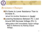 resistance changes
