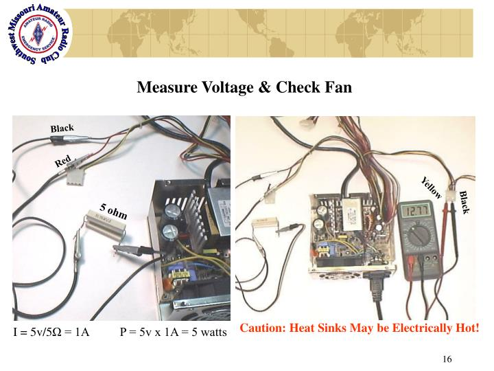 Measure Voltage & Check Fan