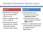 example information literacy topics