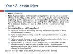 year 8 lesson idea