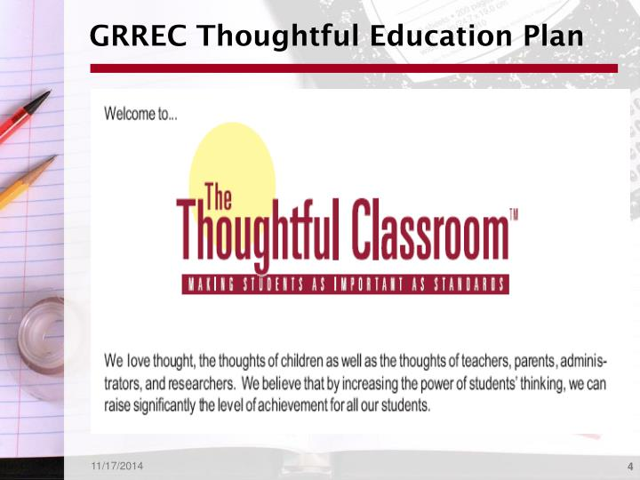 GRREC Thoughtful Education Plan