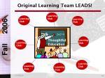 original learning team leads